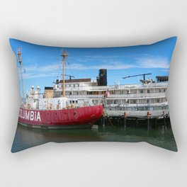 Riverboat Legacy and Fireship Columbia on Columbia River Rectangular Pillow
