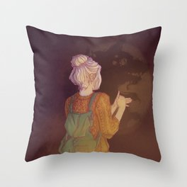 Shadows Lady Throw Pillow