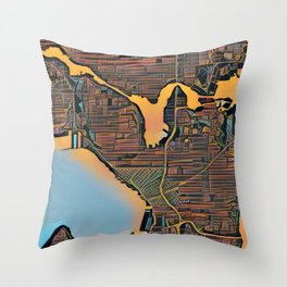 Seattle Color Throw Pillow
