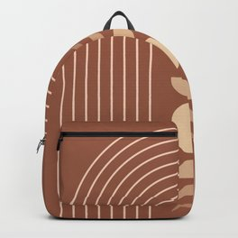 Mid Century Modern Geometric 10 (Moon phases) Backpack