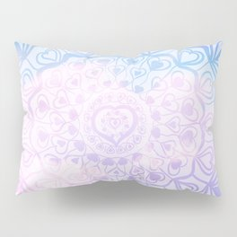 Heart Mandala on Unicorn Pastel Clouds #1 #decor #art #society6 Pillow Sham