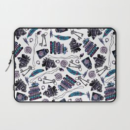 magical attributes, seamless print,  watercolor illustration Laptop Sleeve