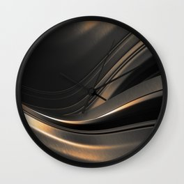 Dark Gold Abstraction Wall Clock
