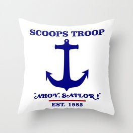 Scoops Troop Throw Pillow