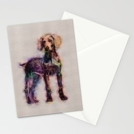 Weimaraner puppy sketch Stationery Cards