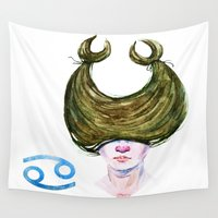 cancer Wall Tapestries featuring Cancer by Aloke Design