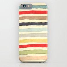 Stripes Watercolor Paint Robayre iPhone 6 Slim Case
