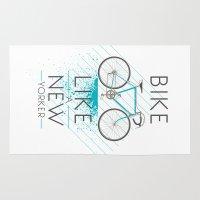 bike Area & Throw Rugs featuring bike by CLOD