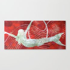 Flying Mermaid Canvas Print
