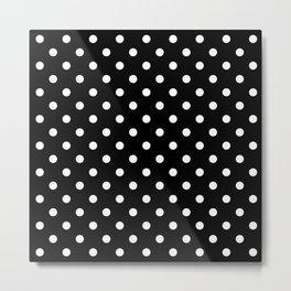 Classic Black & White Polka Dots Pattern Metal Print