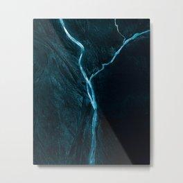 Void River – Minimalist Landscape Photography Metal Print