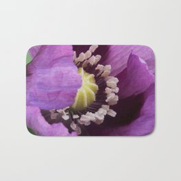 Hungarian Blue Bread Seed Poppy | Close Perspective Bath Mat