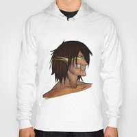 attack on titan Hoodies featuring Titan Form by JemyArt