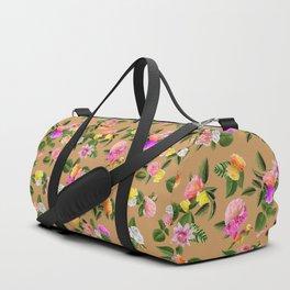 Frida Floral (Orange) Duffle Bag