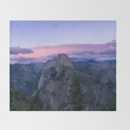 Yosemite National Park at Sunset Throw Blanket