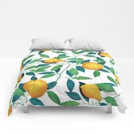 Lemon pattern II Comforters