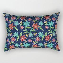 Rainbow Batik Rectangular Pillow