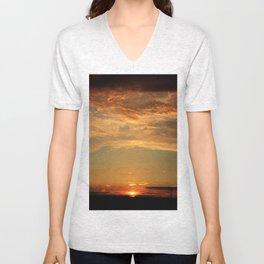 Orange Sunset Unisex V-Neck