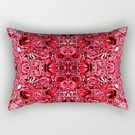 Sparkling red glass mosaic Rectangular Pillow