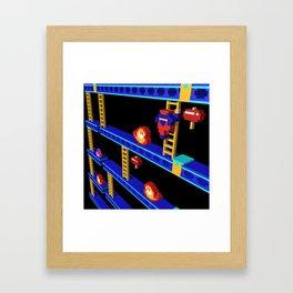 Inside Donkey Kong stage 4 Framed Art Print