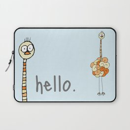 Hello Ostrich Laptop Sleeve