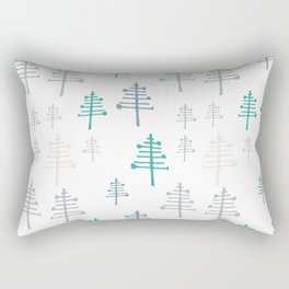 Winter trees white pattern Rectangular Pillow