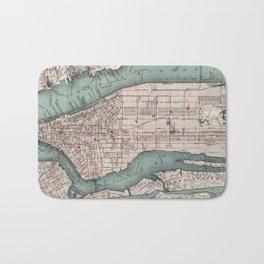 Vintage Map of New York City (1897) Bath Mat