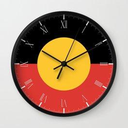 Australian Aboriginal Flag Wall Clock