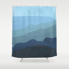 Landscape Blue Shower Curtain