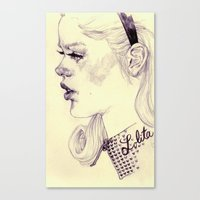 lolita Canvas Prints featuring lolita by adria mercuri