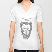 bigfoot V-neck T-shirts featuring Bigfoot  by Observer