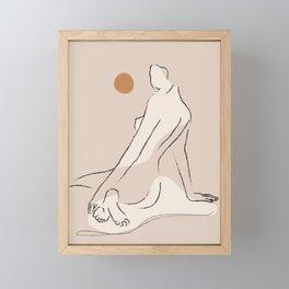 Nude 2 Framed Mini Art Print