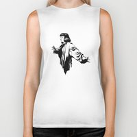 mia wallace Biker Tanks featuring Mia Wallace by El Kane