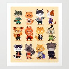 Meow Hero Acatdemia Art Print