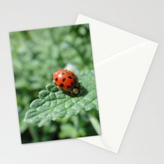 Ladybug on a Leaf Stationery Cards