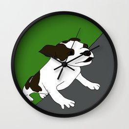 Annie The Boston Terrier Wall Clock
