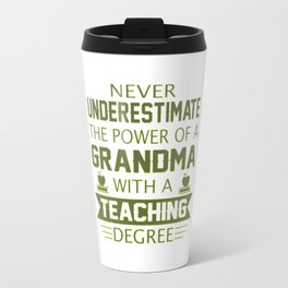 Grandma Teacher Travel Mug