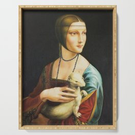 Lady With An Ermine Serving Tray