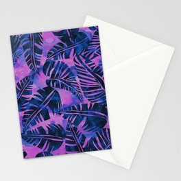 Lani Kai Leaf Purple Stationery Cards