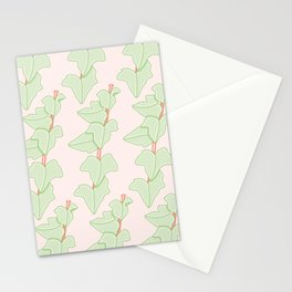 Minimalist Hedera Plant Pattern Stationery Cards