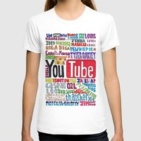 danisnotonfire T-shirts featuring Youtube Colored Collage by emma