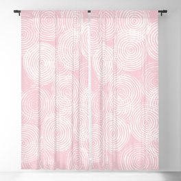 Radial Block Print in Pink Blackout Curtain