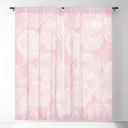 Radial Block Print in Pink Blackout Curtain