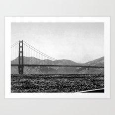 Golden San Fran Art Print