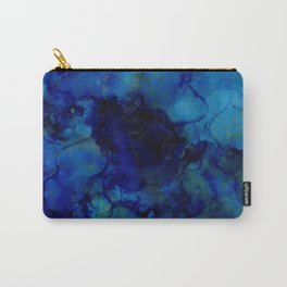 NEW Alcohol Ink Deep Blue Trip I Carry-All Pouch