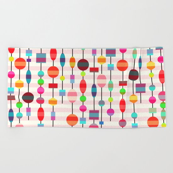 Colorful pearls Beach Towel