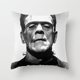 Frankenstien | Franky | Horror movies | Munsters | Gothic Aesthetics Throw Pillow