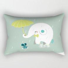 Rainy Elephant Rectangular Pillow