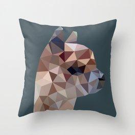 Geometric Alpaca Teddy Throw Pillow