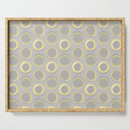 Solar Eclipse MCM Gray-Yellow Serving Tray